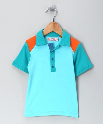 Orange Play Organic Polo - Infant, Toddler & Boys