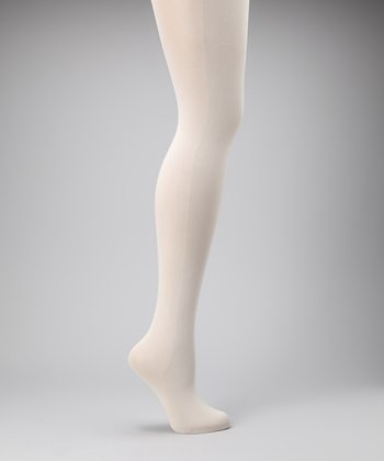Ivory Opaque Shaper Tights - Women & Plus