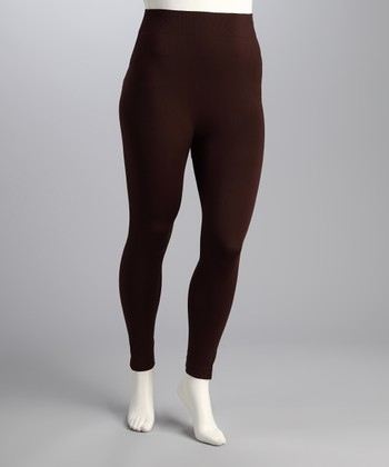 Brown Perfect Plus-Size Leggings