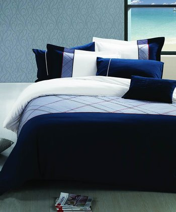 Oxford Blue Bedding Set