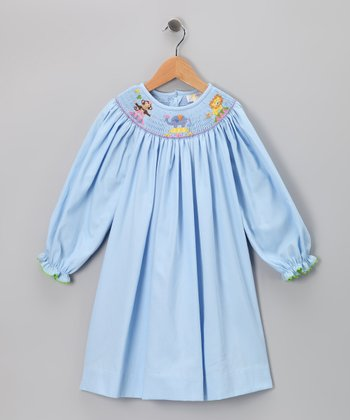 Blue Circus Long-Sleeve Bishop Dress - Infant, Toddler & Girls