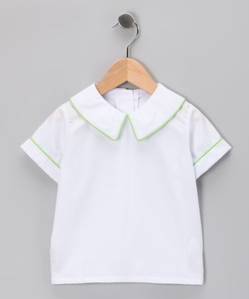 White Circus Short-Sleeve Blouse - Infant