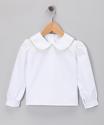 White Long-Sleeve Blouse - Infant, Toddler & Girls