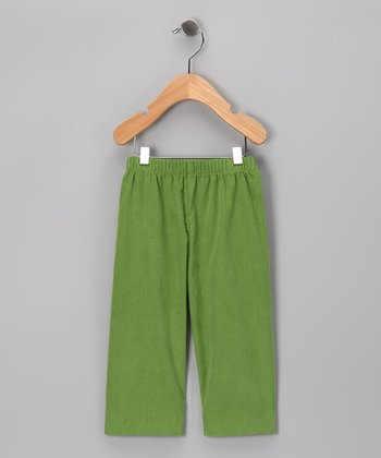 Green Corduroy Football Pants - Toddler & Boys