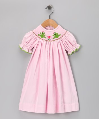 Secret Wishes Pink Frog Bishop Dress - Infant, Toddler & Girls
