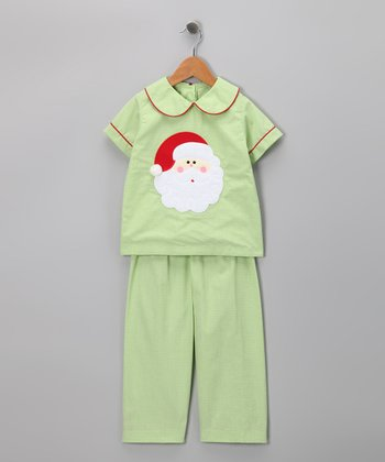Green Santa Shirt & Pants - Infant & Kids