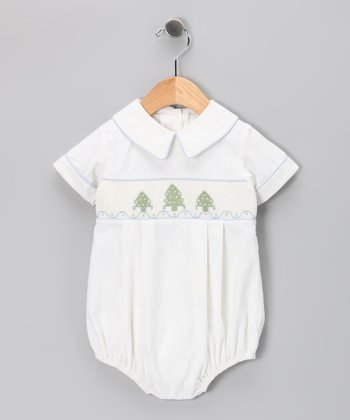 White Christmas Tree Bubble Bodysuit - Infant