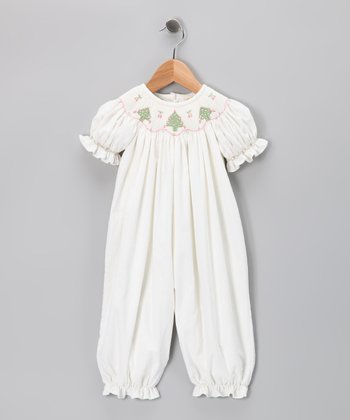 White Winter Playsuit - Infant