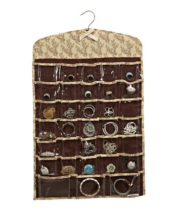 Toile Leaf 66-Pocket Jewelry Organizer