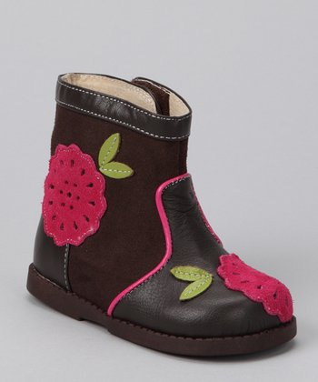Brown & Pink Louise Boot