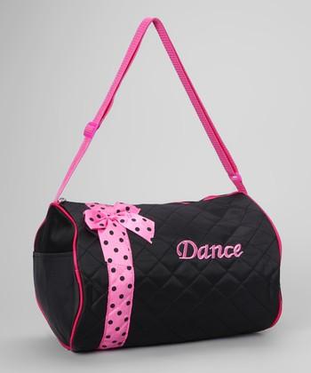 Seesaws & Slides Black Bow 'Dance' Duffel Bag