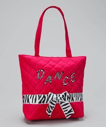 Seesaws & Slides Hot Pink Zebra 'Dance' Tote