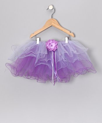 Lilac Flower Tutu - Toddler