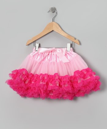 Light Pink & Hot Pink Pettiskirt - Infant, Toddler & Girls