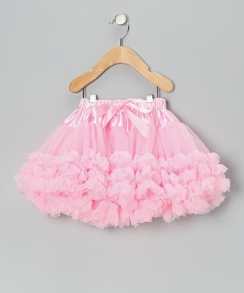 Light Pink Shiny Tulle Pettiskirt - Infant, Toddler & Girls