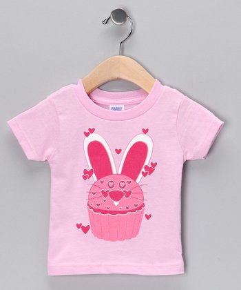 Pink Bunny Cupcake Tee - Infant, Toddler & Girls