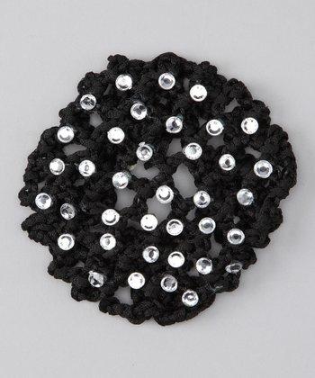 Seesaws & Slides Black Rhinestone Knit Bun Cover