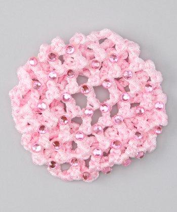 Seesaws & Slides Pink Rhinestone Knit Bun Cover