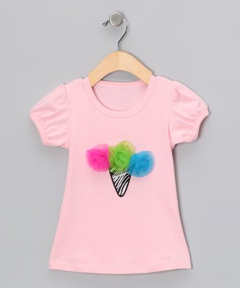 Pink Rosette Ice Cream Tee - Infant & Girls