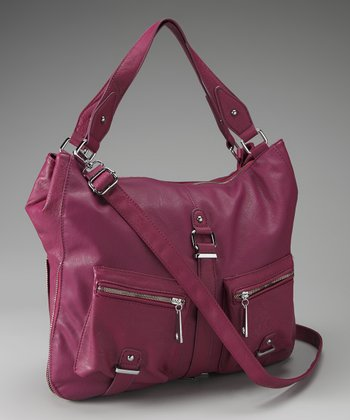Purple Double Pocket Tote