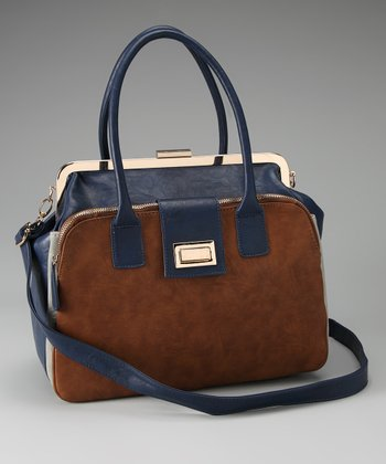 Blue & Coffee Two-Tone Tote