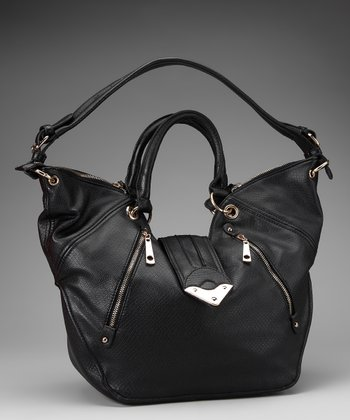 Segolene Paris Black Zipper Tote
