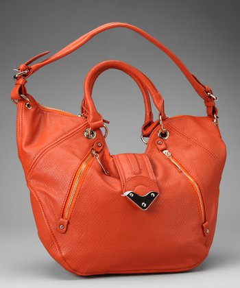Segolene Paris Orange Zipper Tote