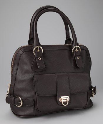 Dark Chocolate Buckle Tote