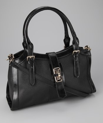 Black Monochromatic Satchel