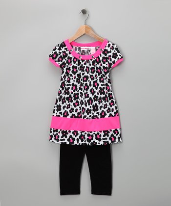 Pink Flower Tunic & Leggings - Toddler & Girls