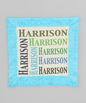 Teal Army Personalized Organic Lovey