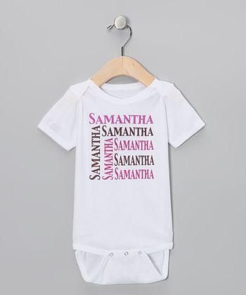 Pink & Chocolate Personalized Organic Bodysuit - Infant