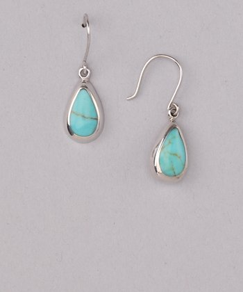 Turquoise Framed Teardrop Earrings