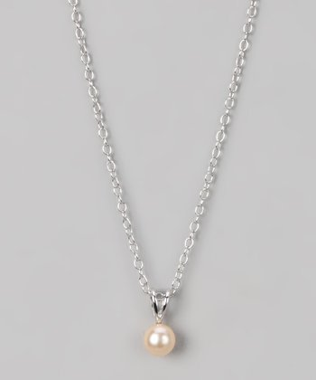 Sterling Silver & Pink Small Freshwater Pearl Pendant Necklace