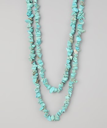 Turquoise & Sterling Silver Chip Bead Necklace