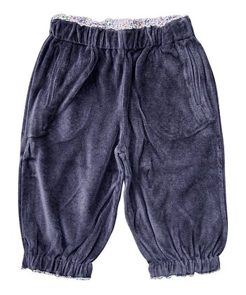 Prune Velour Organic Relaxed-Fit Pants - Infant, Toddler & Girls