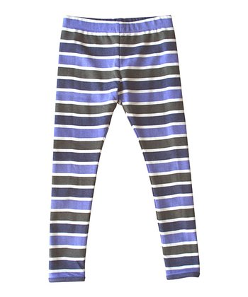 Navy Stripe Organic Leggings - Infant, Toddler & Kids