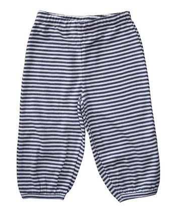Prune & Ecru Stripe Organic Pants - Infant