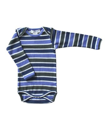 Navy Stripe Organic Bodysuit - Infant