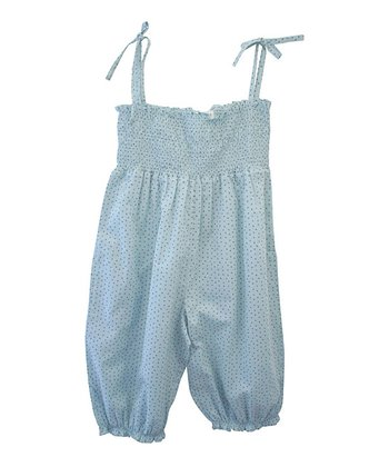 Pencil Shirred Organic Jumpsuit - Toddler & Girls