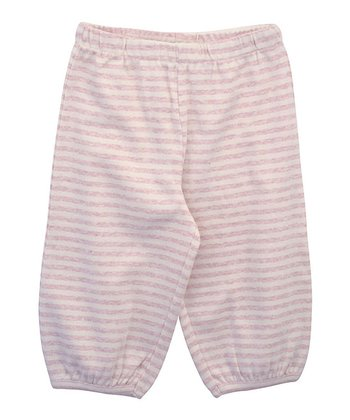 Rosa & Ecru Stripe Organic Pants - Infant