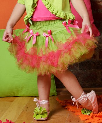 Lime Cherry Tree Pettiskirt - Infant & Toddler