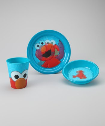 Blue Elmo Tableware Set