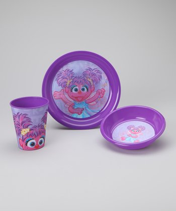 Purple Abby Tableware Set
