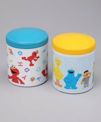 Blue & Yellow Thermal Container Set