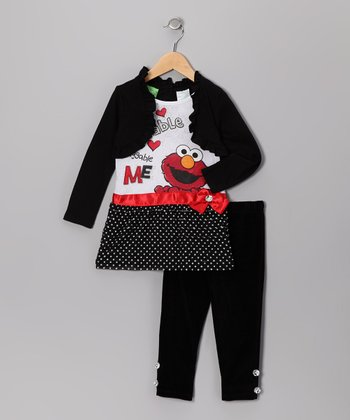 Black Elmo Layered Tunic & Leggings - Infant & Toddler