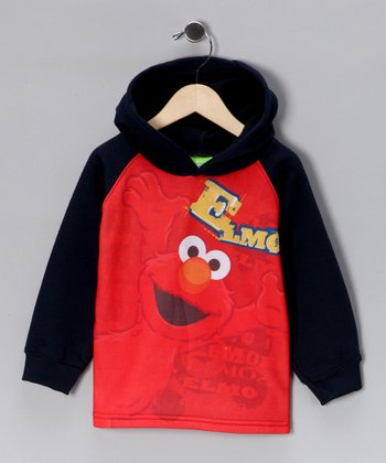 Red & Black Elmo Hoodie - Toddler