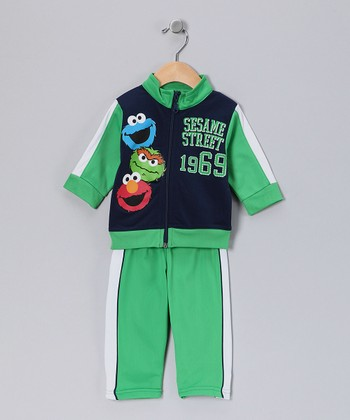 Green 'Sesame Street' Jacket & Track Pants - Infant
