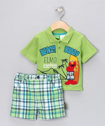 Lime Dip Elmo Polo & Shorts - Infant
