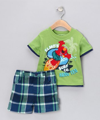 Cricket Elmo 'Surf' Tee & Shorts - Infant
